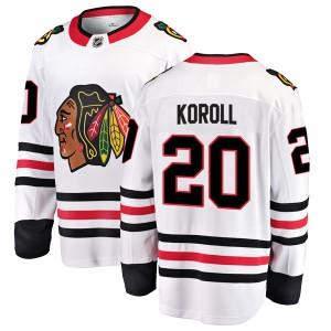 Youth Chicago Blackhawks Cliff Koroll Fanatics Branded Breakaway Away Jersey - White