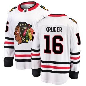 Youth Chicago Blackhawks Marcus Kruger Fanatics Branded Breakaway Away Jersey - White