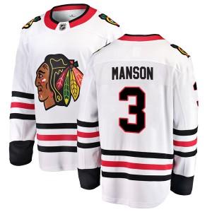 Youth Chicago Blackhawks Dave Manson Fanatics Branded Breakaway Away Jersey - White