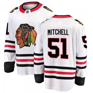 Youth Chicago Blackhawks Ian Mitchell Fanatics Branded Breakaway Away Jersey - White
