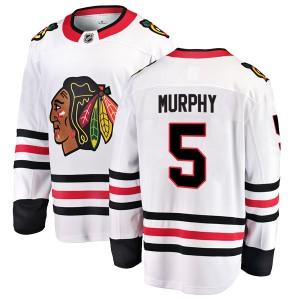 Youth Chicago Blackhawks Connor Murphy Fanatics Branded Breakaway Away Jersey - White
