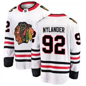 Youth Chicago Blackhawks Alexander Nylander Fanatics Branded Breakaway Away Jersey - White