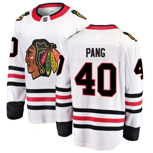 Youth Chicago Blackhawks Darren Pang Fanatics Branded Breakaway Away Jersey - White