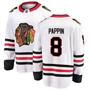 Youth Chicago Blackhawks Jim Pappin Fanatics Branded Breakaway Away Jersey - White