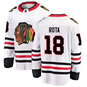 Youth Chicago Blackhawks Darcy Rota Fanatics Branded Breakaway Away Jersey - White