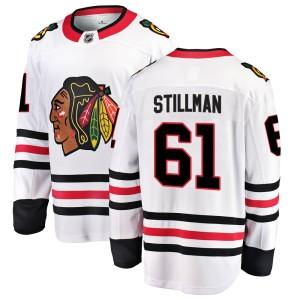 Youth Chicago Blackhawks Riley Stillman Fanatics Branded Breakaway Away Jersey - White