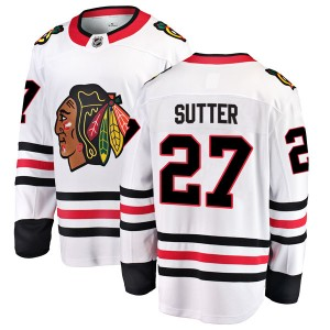 Youth Chicago Blackhawks Darryl Sutter Fanatics Branded Breakaway Away Jersey - White