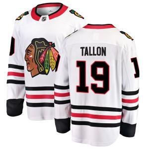 Youth Chicago Blackhawks Dale Tallon Fanatics Branded Breakaway Away Jersey - White