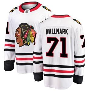 Youth Chicago Blackhawks Lucas Wallmark Fanatics Branded Breakaway Away Jersey - White