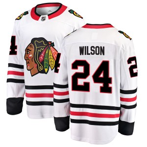 Youth Chicago Blackhawks Doug Wilson Fanatics Branded Breakaway Away Jersey - White