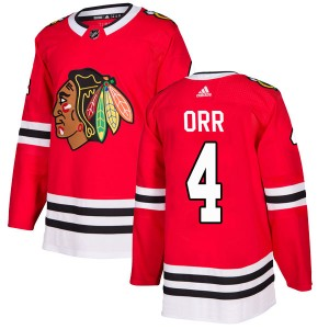 Youth Chicago Blackhawks Bobby Orr Adidas Authentic Home Jersey - Red
