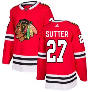 Youth Chicago Blackhawks Darryl Sutter Adidas Authentic Home Jersey - Red