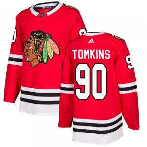Youth Chicago Blackhawks Matt Tomkins Adidas Authentic Home Jersey - Red