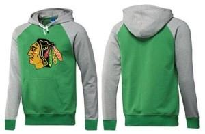 Men's Chicago Blackhawks Big & Tall Logo Pullover Hoodie - /Grey - Green