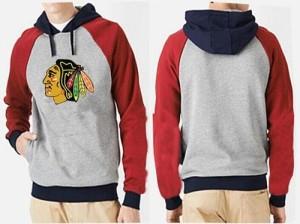 Men's Chicago Blackhawks Big & Tall Logo Pullover Hoodie - /Red - Grey