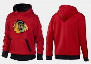 Men's Chicago Blackhawks Big & Tall Logo Pullover Hoodie - - Red/Black