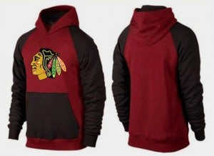 Men's Chicago Blackhawks Big & Tall Logo Pullover Hoodie - /Brown - Red