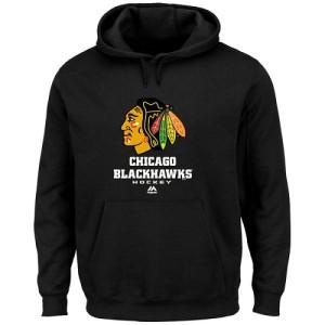 Men's Chicago Blackhawks Majestic Critical Victory VIII Fleece Hoodie ¨C - Black