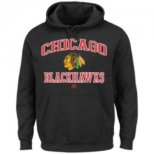 Men's Chicago Blackhawks Majestic Heart & Soul Hoodie - - Black