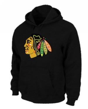 Men's Chicago Blackhawks Pullover Hoodie - - Black