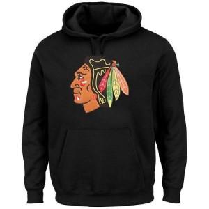 Men's Chicago Blackhawks Rinkside Big & Tall Primary Logo Pullover Hoodie - Black