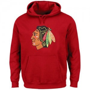 Men's Chicago Blackhawks Rinkside Big & Tall Primary Logo Pullover Hoodie - Red