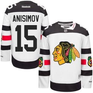 Men's Chicago Blackhawks Artem Anisimov Reebok Premier 2016 Stadium Series Jersey - White