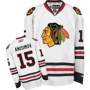 Men's Chicago Blackhawks Artem Anisimov Reebok Premier Away Jersey - White