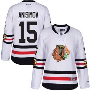 Women's Chicago Blackhawks Artem Anisimov Reebok Authentic 2017 Winter Classic Jersey - White