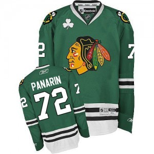 Men's Chicago Blackhawks Artemi Panarin Reebok Authentic Jersey - Green