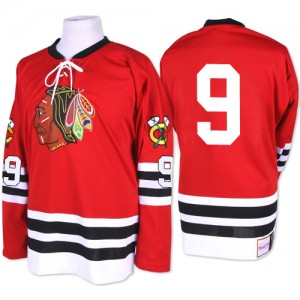 Men's Chicago Blackhawks Bobby Hull Mitchell and Ness Premier 1960-61 Throwback Jersey - Red