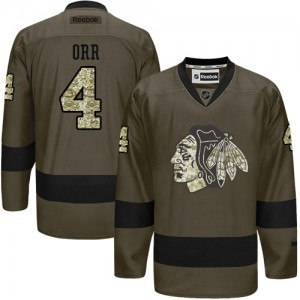 Men's Chicago Blackhawks Bobby Orr Reebok Authentic Salute to Service Jersey - Green