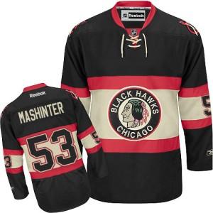 Men's Chicago Blackhawks Brandon Mashinter Reebok Authentic New Third Jersey - Black