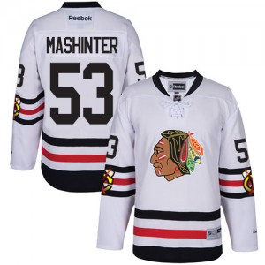 Men's Chicago Blackhawks Brandon Mashinter Reebok Premier 2017 Winter Classic Jersey - White