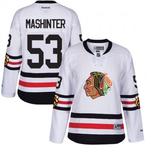 Women's Chicago Blackhawks Brandon Mashinter Reebok Premier 2017 Winter Classic Jersey - White