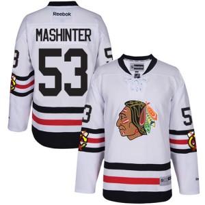 Youth Chicago Blackhawks Brandon Mashinter Reebok Authentic 2017 Winter Classic Jersey - White