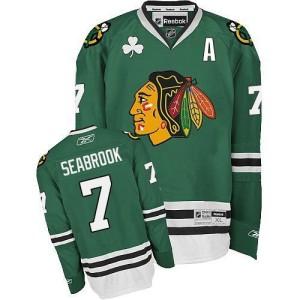 Men's Chicago Blackhawks Brent Seabrook Reebok Authentic Jersey - Green