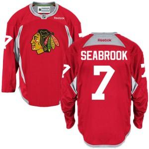 Men's Chicago Blackhawks Brent Seabrook Reebok Authentic Practice Jersey - Red