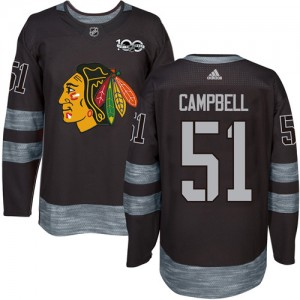 Men's Chicago Blackhawks Brian Campbell Adidas Authentic 1917-2017 100th Anniversary Jersey - Black