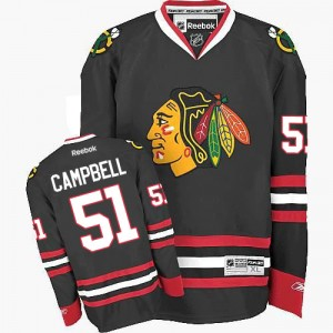 Men's Chicago Blackhawks Brian Campbell Reebok Authentic Third Jersey - Black