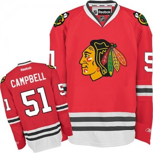 Men's Chicago Blackhawks Brian Campbell Reebok Authentic Home Jersey - Red