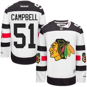 Men's Chicago Blackhawks Brian Campbell Reebok Authentic 2016 Stadium Series Jersey - White