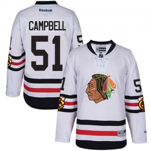 Men's Chicago Blackhawks Brian Campbell Reebok Authentic 2017 Winter Classic Jersey - White