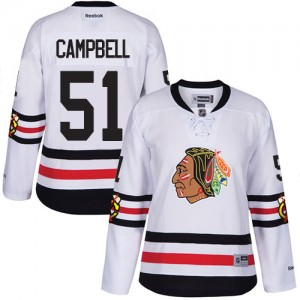 Women's Chicago Blackhawks Brian Campbell Reebok Authentic 2017 Winter Classic Jersey - White
