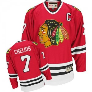 Men's Chicago Blackhawks Chris Chelios CCM Authentic Throwback Jersey - Red