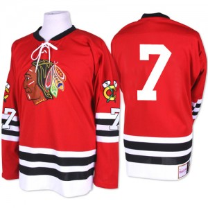 Men's Chicago Blackhawks Chris Chelios Mitchell and Ness Authentic 1960-61 Throwback Jersey - Red