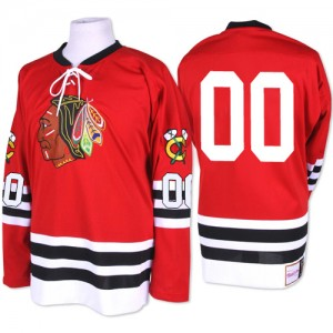 Men's Chicago Blackhawks Clark Griswold Mitchell and Ness Premier 1960-61 Throwback Jersey - Red