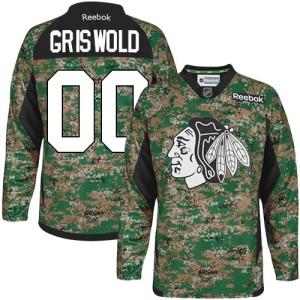 Men's Chicago Blackhawks Clark Griswold Reebok Authentic Veterans Day Practice Jersey - Camo