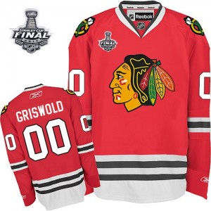 Men's Chicago Blackhawks Clark Griswold Reebok Authentic 2013 Stanley Cup Champions Jersey - Red