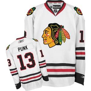 Men's Chicago Blackhawks CM Punk Reebok Authentic Away Jersey - White